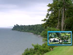 The Cliffs at Sodus Point Bed & Breakfast with a view of Lake Ontario