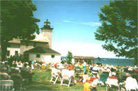 Free outdoor concerts every Sunday afternoon, at the Sodus Point Lighthouse, overlooking Lake Ontario